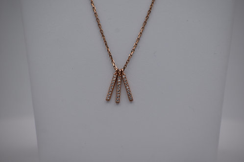 Diamond 3-Bar Dangle Pendant