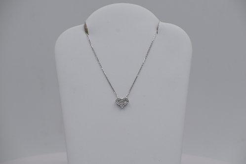 Small Pave` Diamond Heart Pendant
