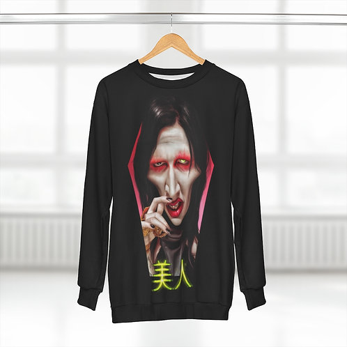 Translation: beautiful people AOP Unisex Sweatshirt