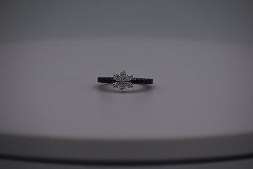 Black Diamond Floral Ring