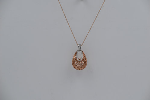 Filigree Basket Diamond Pendant