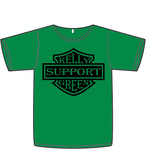 Kelly Green Support Tee Green