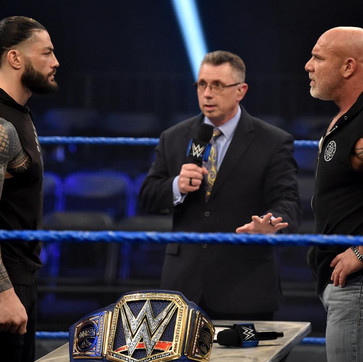 "Goldberg Calls Out Roman Reigns- ""It's Comin', and I'm Comin' For Ya."" During WWE's 'The Bump'"
