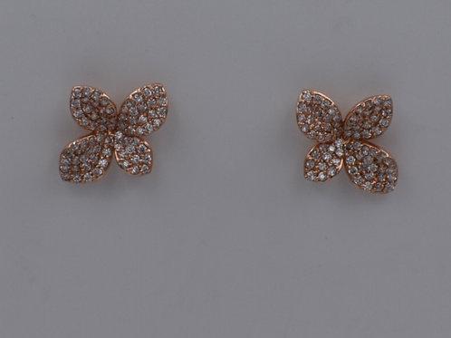 Diamond Flower Studs-