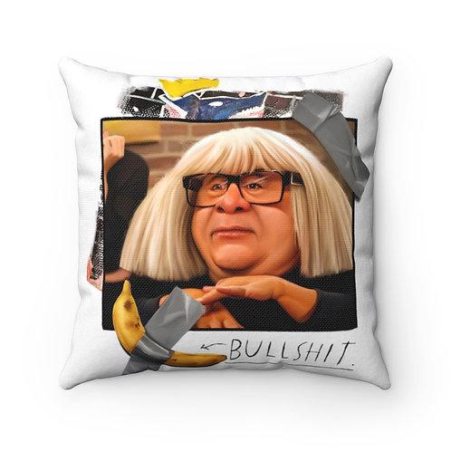 Banana art is...bullshit Spun Polyester Square Pillow