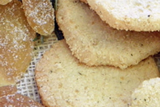 Rosemary/Candied Ginger Shortbread