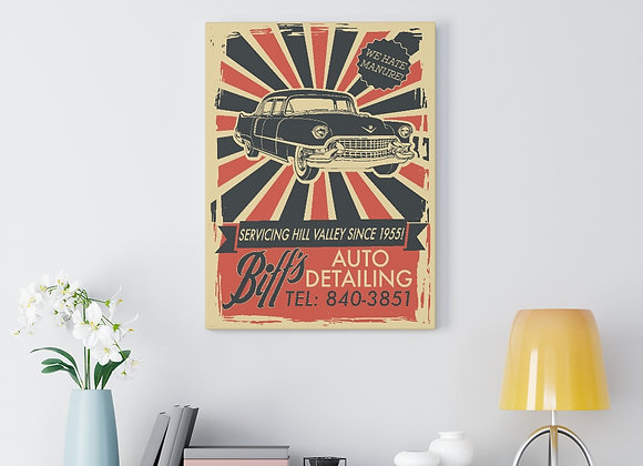 Biff Tannen's Auto Detailing Canvas Wall Art- Back To The Future Homage