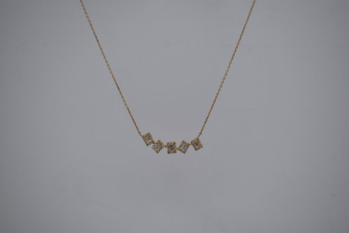Diamond Geometric Pendant
