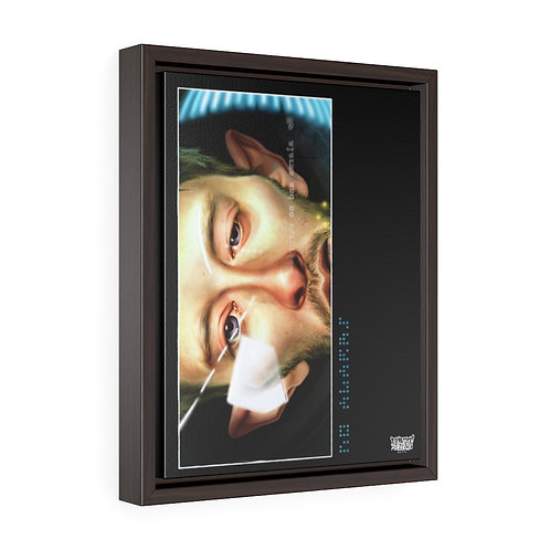 No Alarms Vertical Framed Premium Gallery Wrap Canvas