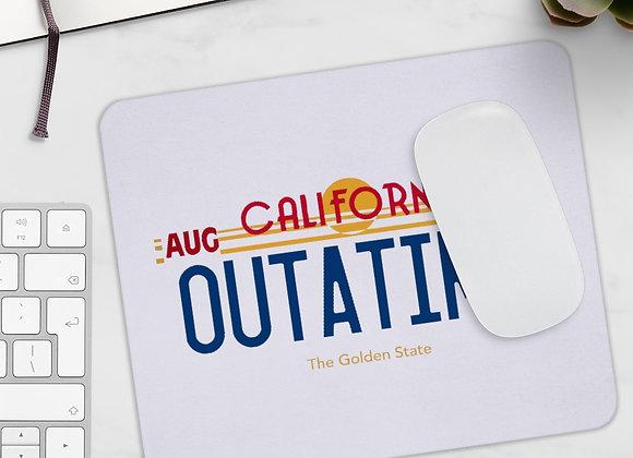 Outatime License Plate Mousepad Back To The Future Mousepad
