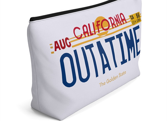 Outatime License Plate Accessory Pouch w T-bottom