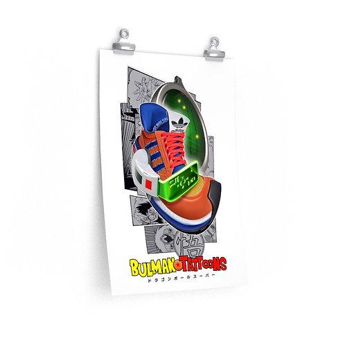 Adidas AX500 Dragonball Z Goku Karicature Kicks Premium Matte Poster