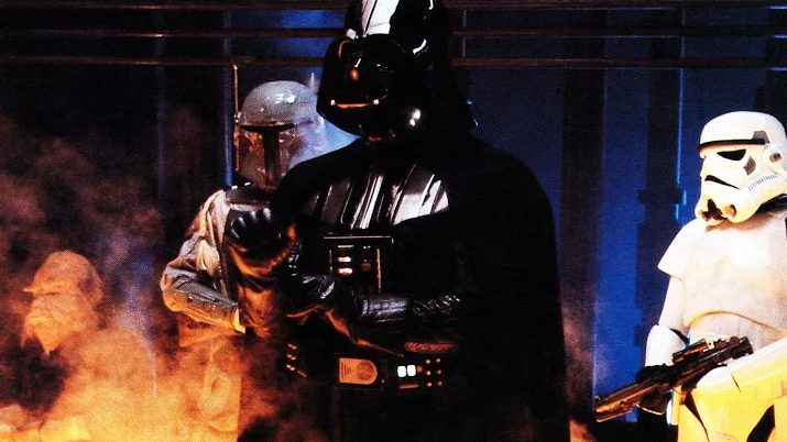 Darth Vader, Stormtrooper and Boba Fett In Empire Strikes Back-1980