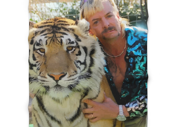 "Joe Exotic Tiger King 50"" x 60""  Fleece Blanket"