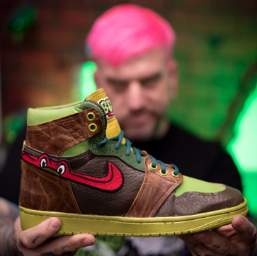 Switching Gears: Ink Master Alumni Now Creates Custom Air Jordans Full-Time...And Isn't Turning Back