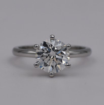6 Prong Round Solitaire Diamond Engagement Ring