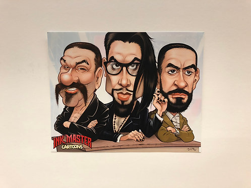 "Ink Master Caricature  11"" x 14"" Print"