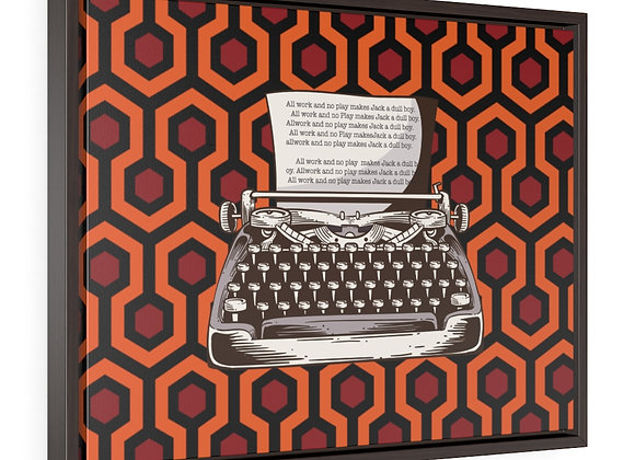 The Shining Carpet Typewriter All Work And No Play Gallery Canvas