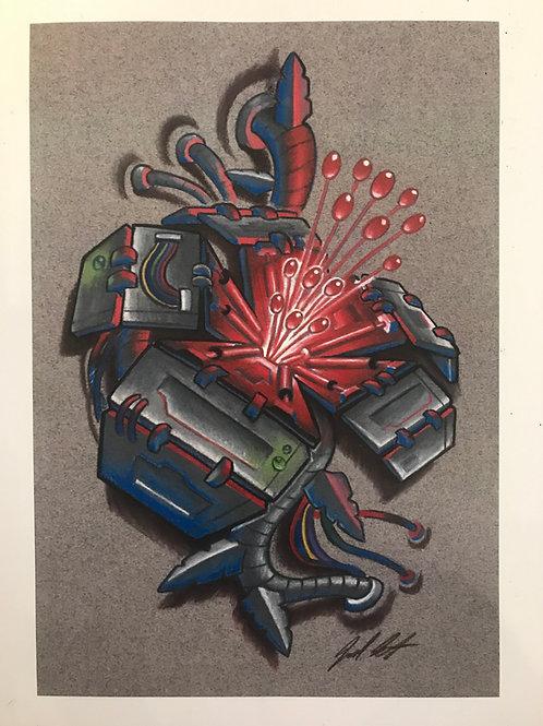 """Mechabiscus Print- 12""""x9"""""""