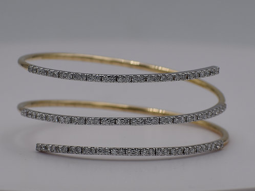 Diamond Wrap Bangle Earrings