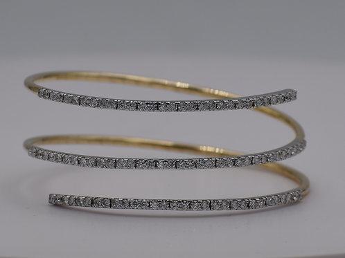 Diamond Wrap Bangle Earrings