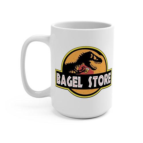 Jurassic Bagel Large Mug: 15oz