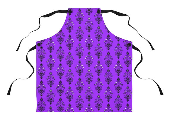Haunted Mansion Wallpaper Pattern Disney-Style Apron