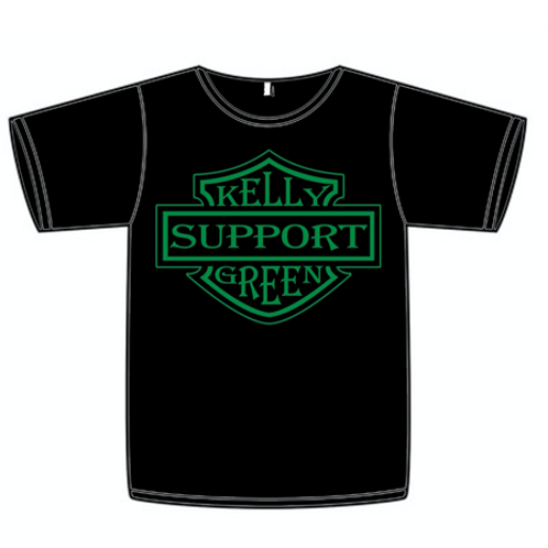 Kelly Green Support Tee Black