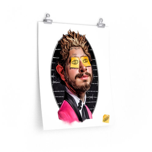 Always tired post-it malone Posters