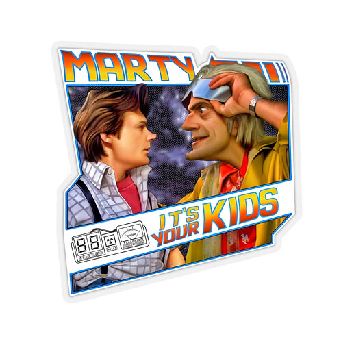 Marty! It's your kids Kiss-Cut Stickers