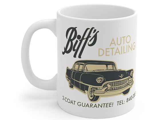 Biff's Auto Detailing 11oz mug: Back To The Future homage