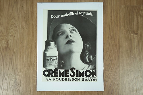 """Affiche """"Crème Simon"""""""