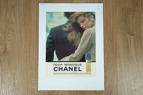 """Affiche """"Pour Monsieur"""" de Chanel."""
