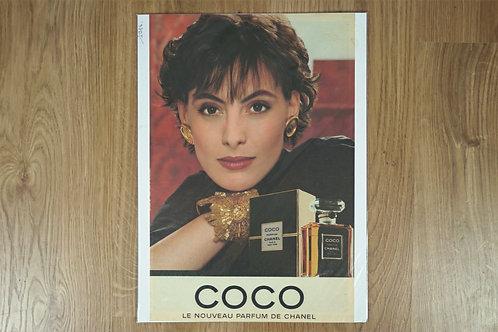 """Affiche """"Coco"""" de Chanel"""
