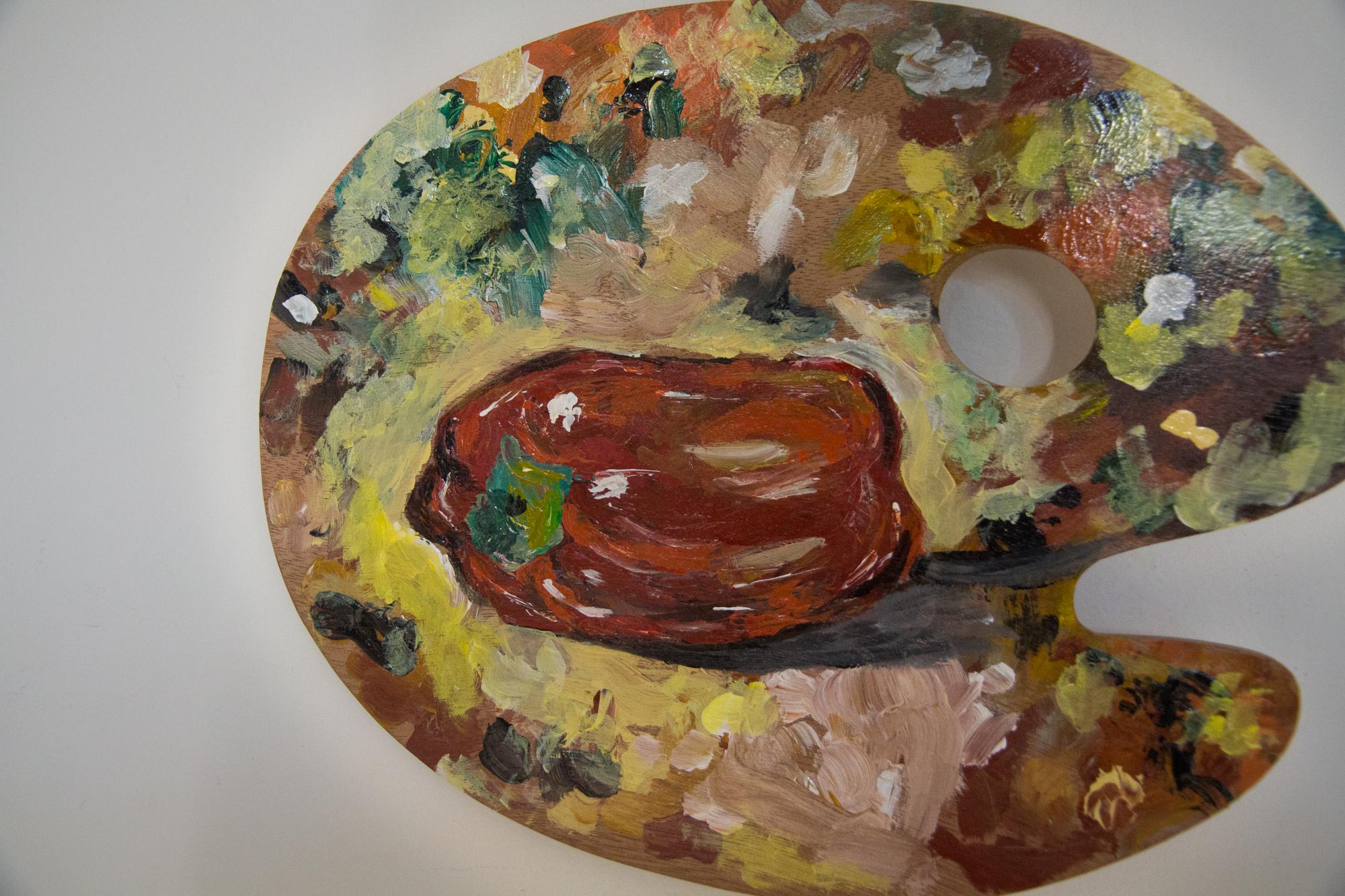 le poivron, 2017, huile