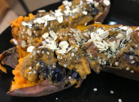 Nutty Berry Sweet Potato