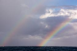 A beautiful double rainbow
