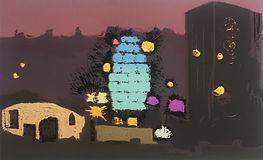 Rory Brooke, Gherkin at Night Screenprint.jpg