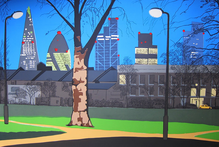 Rory Brooke, London Fields Sentinels Screenprint