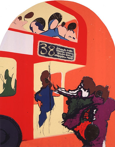 Rory Brooke, Bus Stop Assumption Screenprint