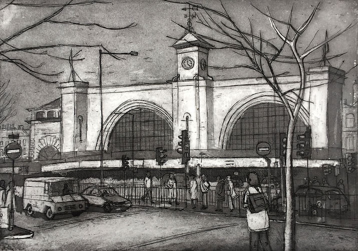 Rory Brooke, Kings Cross Etching