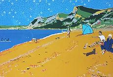 Rory Brooke Eype Beach Screenprint.jpg