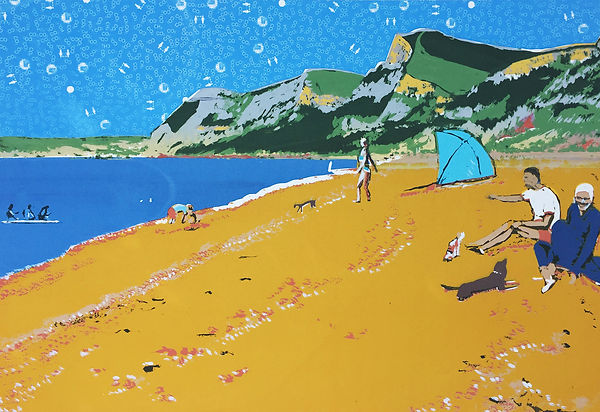 Rory Brooke Eype Beach Screenprint.jpg