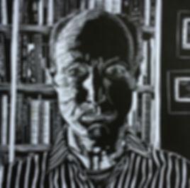 Rory Brooke lino self portrait draft 10-