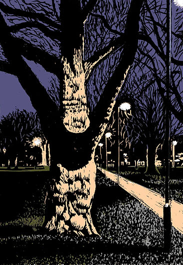 Rory Brooke Forked Tree Photoshop test with lino layer 3rd July 21.jpg