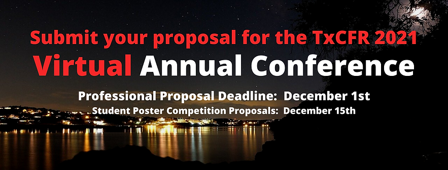 Submit your proposal for the TxCFR 2021.