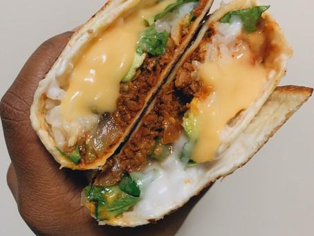 Cheezy Chorizo Burrito