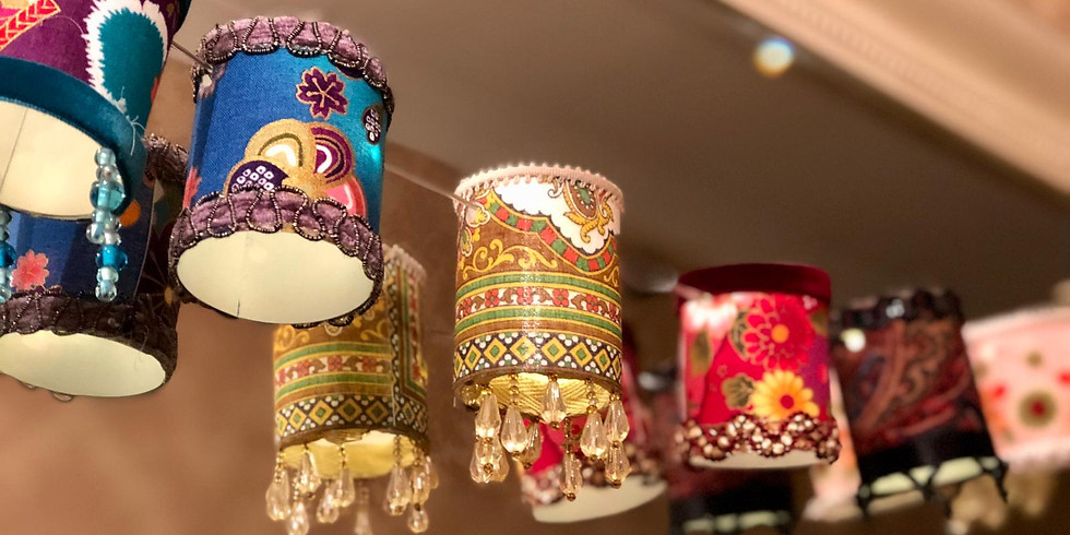 Mini Lampshade Fairy Light Workshop  (1)
