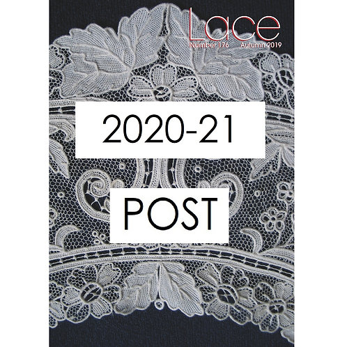 Lace Guild Postal Membership for 2020-21 (LACE magazine by post)