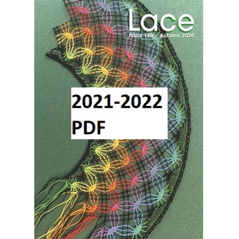 Lace Guild e-Membership for 2021-2022 (LACE magazine as a PDF download)